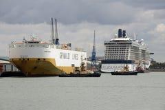Shipping activity Port of Southampton UK Royalty Free Stock Image
