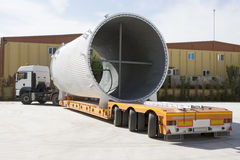 Shipping, air cooling channel on truck. Royalty Free Stock Photos