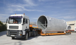 Shipping, air cooling channel on truck. Stock Photos