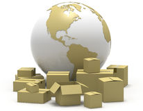 Shipping Around The World Royalty Free Stock Photo