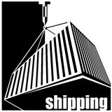 Shipping black and white Stock Photos