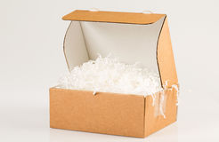 Shipping box with filling Stock Photo