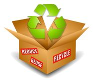 Shipping Box Recycling Symbol Royalty Free Stock Photography