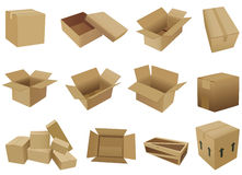 Shipping box vector Royalty Free Stock Images