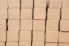 Shipping boxes Stock Images