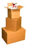 Shipping Boxes Stock Photography