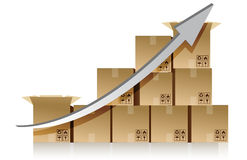 Shipping boxes chart illustration design Stock Image