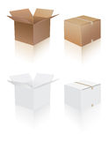 Shipping boxes collection Royalty Free Stock Image