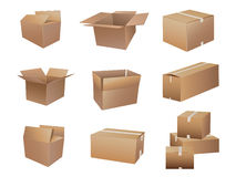 Shipping boxes collection Royalty Free Stock Photography