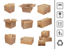 Shipping boxes collection vector illustration
