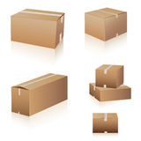 Shipping boxes collection Stock Photo