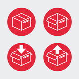 Shipping boxes, flat icon design Royalty Free Stock Images