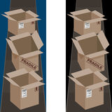 Shipping Boxes Vertical Banner Stock Image