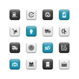 Shipping buttons Royalty Free Stock Photography