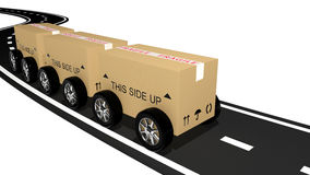 Shipping cardboard Royalty Free Stock Photography