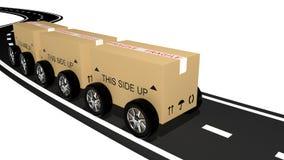 Shipping cardboard Stock Illustration