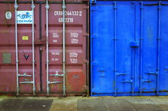 Shipping or Cargo Containers Royalty Free Stock Photography