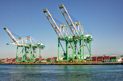 Shipping Cargo Crane Port of Los Angeles. Shipping cargo crane and containers in San Pedro (Port of Los Angeles Stock Images