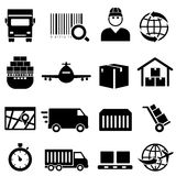 Shipping and cargo icons. Shipping and cargo icon set Stock Images