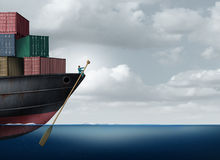 Shipping Cargo Leadership Royalty Free Stock Images