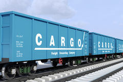 Shipping cargo in wagons. Royalty Free Stock Photos