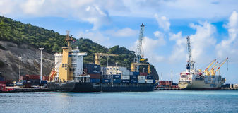 Shipping in the Caribbean Royalty Free Stock Photos