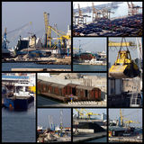 Shipping collage. A collage of photos about shipping team