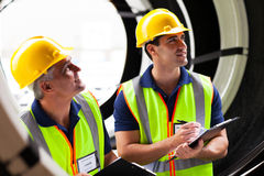 Shipping company employees Royalty Free Stock Photo