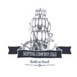 Shipping company logo. Vector eps10 isolated illustration Royalty Free Stock Image