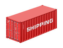 Free Shipping Container Royalty Free Stock Photography - 46849227