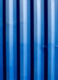 Shipping container blue stripes Royalty Free Stock Image