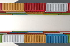 Shipping Container Corriidor Stock Photography