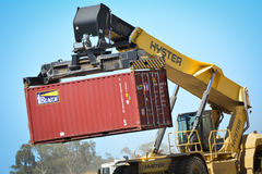 Shipping Container Crane royalty free stock image