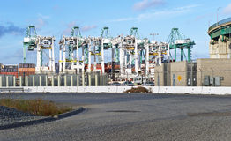 Shipping Container Cranes Royalty Free Stock Photos