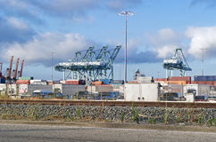 Shipping Container Cranes Royalty Free Stock Image