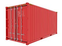 Shipping Container isolated Royalty Free Stock Photo