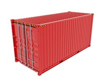 Shipping Container isolated Stock Photography