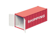 Shipping container open Stock Photography