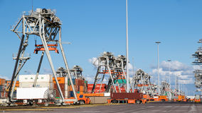 Shipping container port terminal Royalty Free Stock Photos