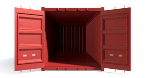 Shipping Container Red Open Empty Stock Image