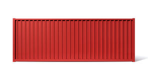 Shipping Container Red Stock Image
