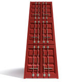 Shipping Container Red Stack Royalty Free Stock Photography