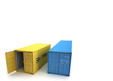 Shipping Container. On a white background stock illustration