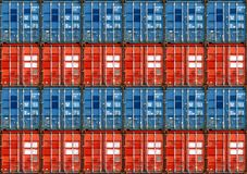 Shipping Containers. Cargo shipping containers stacked up at port stock images