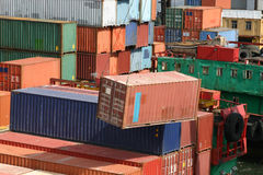 Shipping containers stock photos