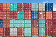 Shipping containers closeup Royalty Free Stock Image
