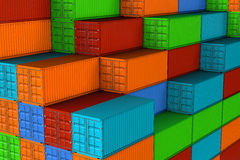 Shipping containers Royalty Free Stock Photos