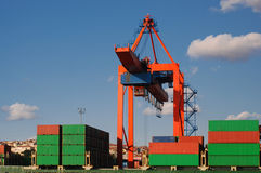 Shipping containers Royalty Free Stock Images