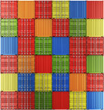 Shipping containers in a grid Stock Photography