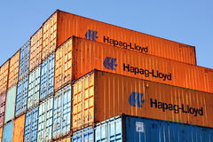 Shipping containers Royalty Free Stock Photography